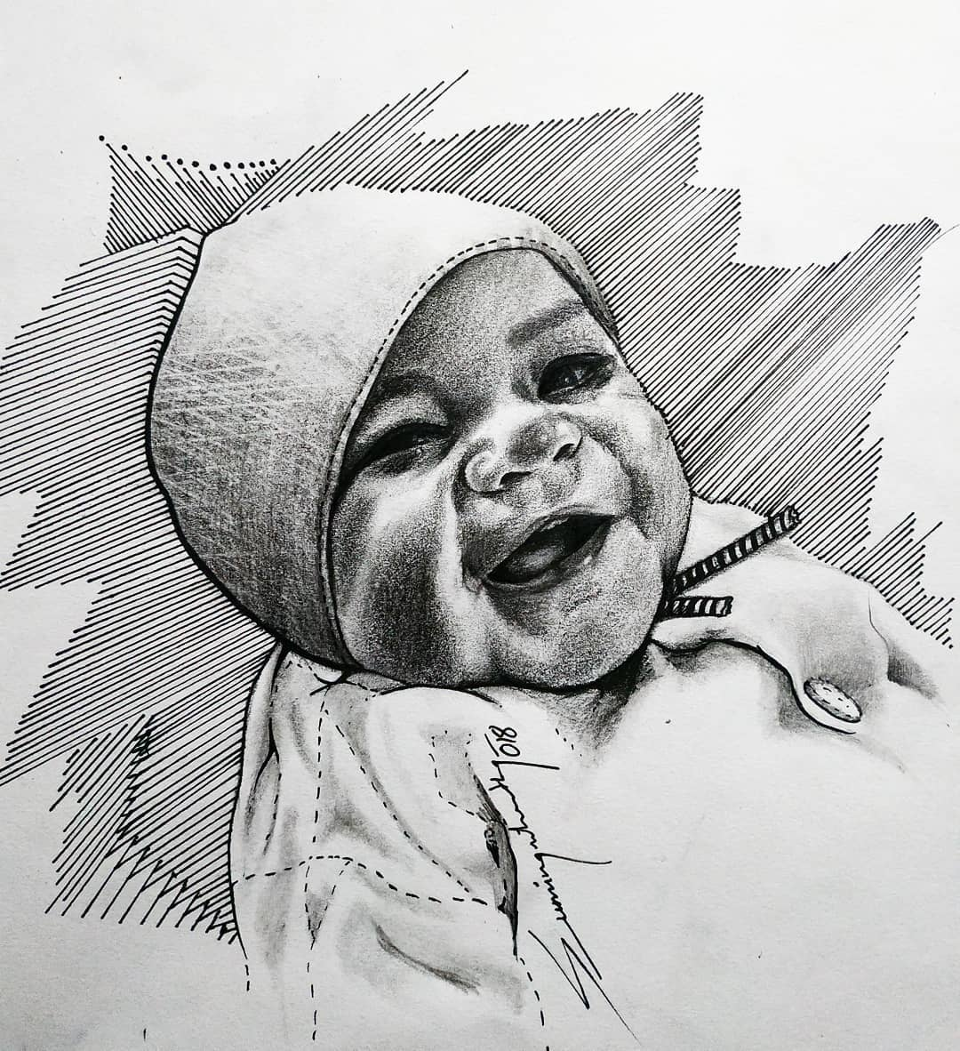 Child portrait by Sumina Shrestha, Tattoo Artist in Nepal