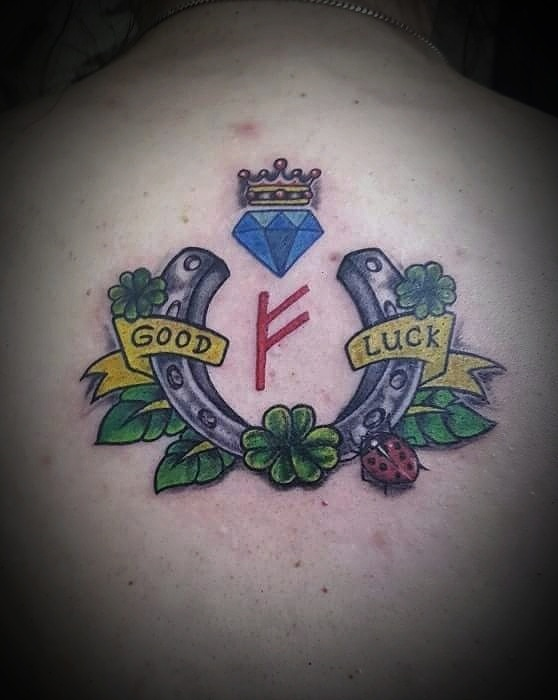 Goodluck Charm Colored Tattoo, Tattoo Artist in Nepal