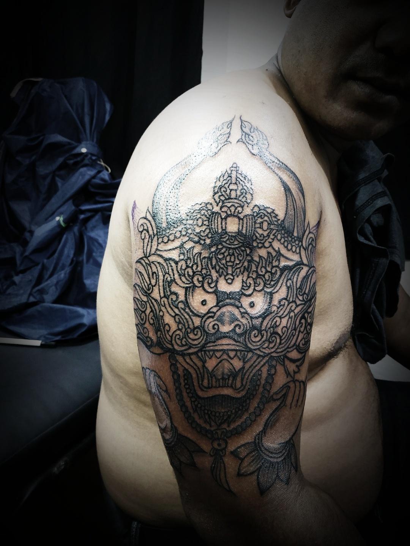 Ancient demon god Tattoo, Tattoo Artist in Nepal