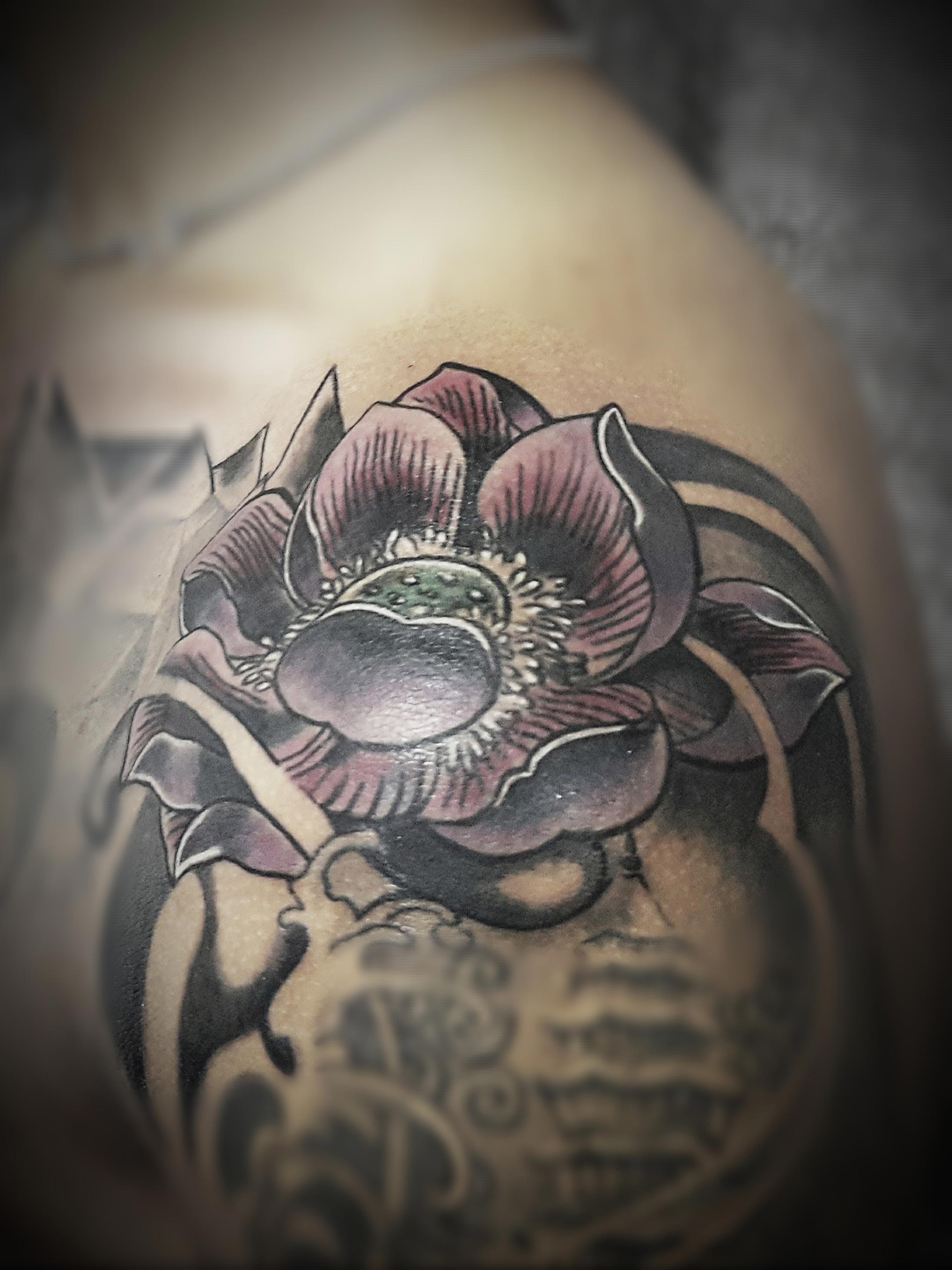 Flower tribal Tattoo, Tattoo Artist in Nepal