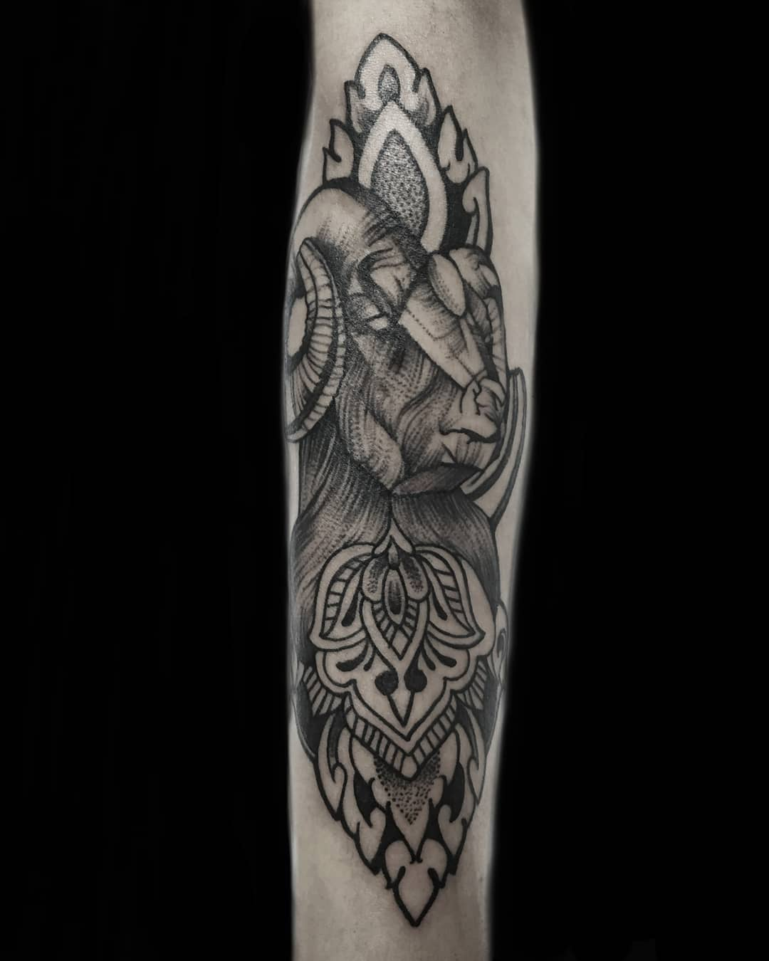 Aries Sleeve Tattoo, Tattoo in Nepal